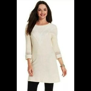 Style & Co nwt lace embellished 3/4 sleeve tunic